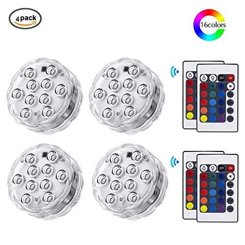 r Licht mit Fernbedienung, RGB Multi Farbwechsel Wasserdichte LED Leuchten Teichbeleuchtung für Vase Base, Dekoration [Energieklasse A++] ()