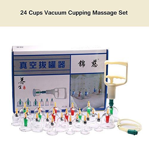 FORNORM Set da 24 pezzi per coppettazione, terapia cinese Cupping Therapy Medical Physical Massage Self Treatment
