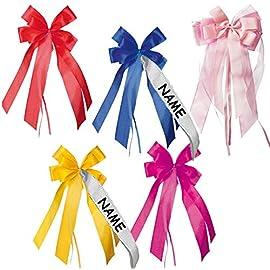 groe-3-D-Schleife-incl-NAMEN-Text-17-cm-breit-u-31-cm-lang-Schleifen-Dekoschleife-zB-Schultten-Zuckertten-Geschenke-Geschenkschleife-fr-Mdchen-und-Jungen-blau-pink-gelb-rot-rosa-Schulttenschleife