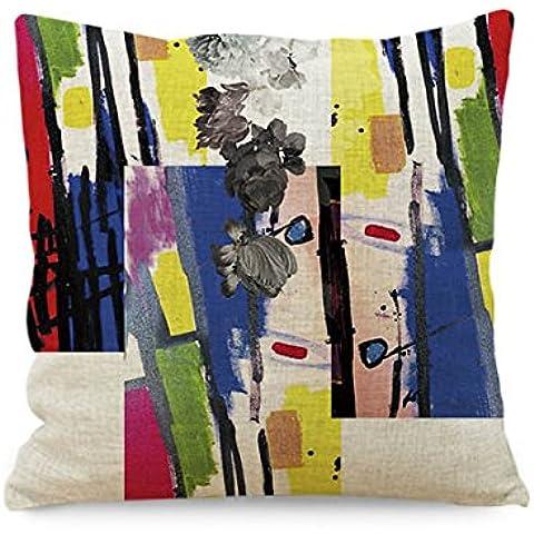 Come2buy - Federa copricuscino in misto lino/cotone, ideale per divani, sedie e poltrone, imbottitura non inclusa, cotone/lino, JG-kf104, 45 cm