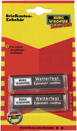 Preisvergleich Produktbild Burg Wächter Fenster für Briefkasten BK 92 F SB