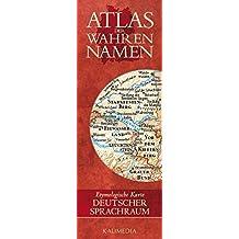 Atlas der Wahren Namen - Deutscher Sprachraum: Etymologische Karte