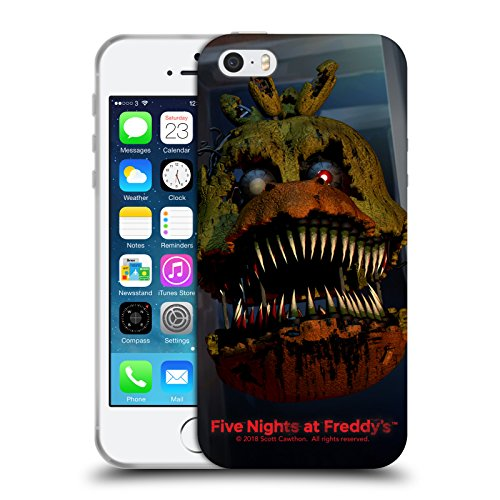 Official Five Nights At Freddy's Nightmare Chica Game 4 Soft Gel Case for iPhone 5 iPhone 5s iPhone SE