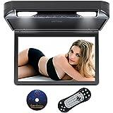 DDAUTO DD1336B Reproductor de DVD Sobrecarga 1080P HD IPS Pantalla Reproductor para Coche Con USB SD HDMI Incorporado Videojuegos Doble Cupula 13,3 Pulgadas