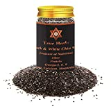 True Herbs USA Imported Premium Raw and Organic Black Chia Seeds, 150gm