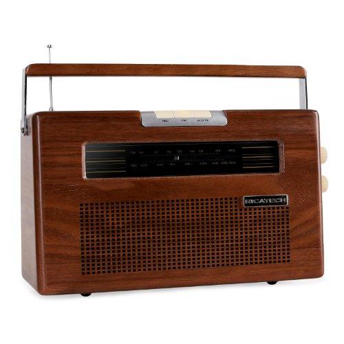 Ricatech PR390 radio in legno AM/FM AUX