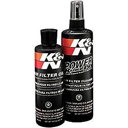 K&N 99-5050 Kit de mantenimiento para Filtros de Aire, Limpiador de Filtro + Aceite, 350 ml - 225 ml