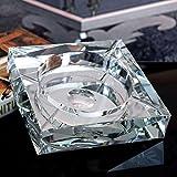 KKY-ENTER Cenicero de cristal de ángulo recto creativo personalidad regalo de moda tendencia atmosférica de lujo sala de estar práctica cenicero oficina de negocios hotel club , dando a los fumadores el mejor regalo