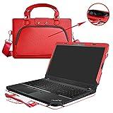 ThinkPad E560 Hülle,2 in 1 Spezielles Design eine PU Leder Schutzhülle + Portable Laptoptasche für 15.6