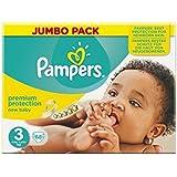 Pampers Nouveau Bébé De Taille 3 (Midi) Jumbo Pack 68 Couches