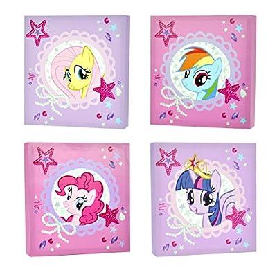 My Little Pony Canvas Wall Art (4-Piece) - cheap UK light shop.