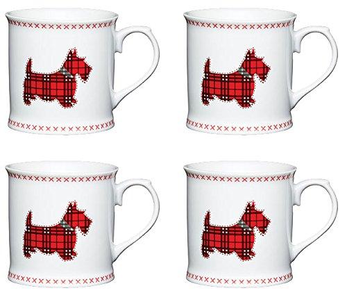 Kitchencraft diseño de Perro (Porcelana), diseño de Cuadros Escoceses Taza (Juego de...