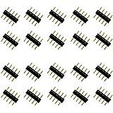 5 pines Conectores Hombre Por Luces Led Strip RGBW 5050 Negro (20pcs)