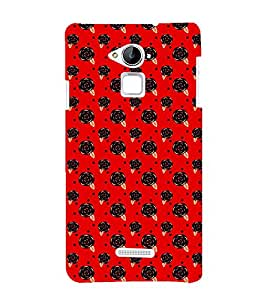 Fuson Premium Back Case Cover Floral Pattern With green Background Degined For Coolpad Note 3