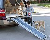PetSafe Solvit Teleskop Aluminium Hunderampe, Anti- Rutsch Autorampe, für Hunde und Katzen