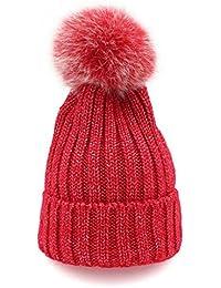 LR KDMN A Modelos de otoño e Invierno Bola de Pelo Sombrero Tejido Alambre  Brillante Más Grueso Mantener Caliente Modelos Femeninos… a25fe8570b3