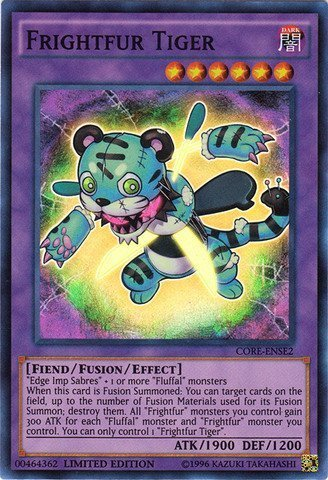 Yu-Gi-Oh! - Frightfur Tiger (CORE-ENSE2) - Clash of Rebellions: Special Edition - Limited Edition - Super Rare by Yu-Gi-Oh!