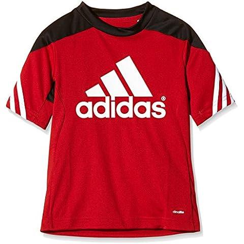 adidas Sere14 TRG JS Y - Camiseta para niño, color rojo / negro / blanco, talla 164
