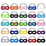 Willbond 25 Pezzi Superhero Mask Maschera Piccola Maschere per Bambini con Corda Elastica