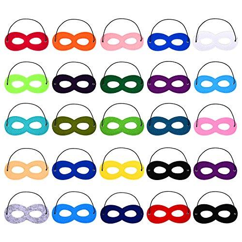 Masken Halbmasken Filz Augenmaske Cosplay Maske mit Elastik Seil (Halloween Superhelden-augen-masken)
