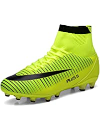75226ebee9a WOWEI Football Boots High Top Spike Soccer Shoes Outdoor Training Unisex  Adults Big Child Sneakers