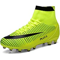 WOWEI Zapatos de Fútbol Spike Aire Libre Profesionales Atletismo Training Botas de Fútbol Adolescentes Adultos Zapatos