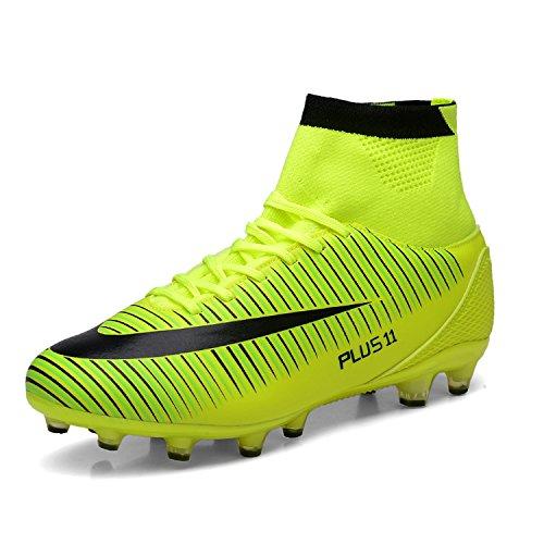 WOWEI Zapatos de Fútbol Spike Aire Libre Profesionales Atletismo Training  Botas de Fútbol Adolescentes Adultos Zapatos 6b6c5d5b08c3c