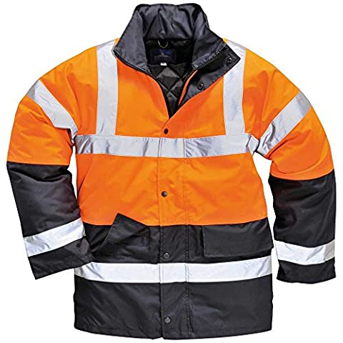 Portwest Mens High Visibility Viz Safety Workwear Traffic Coat Jacket