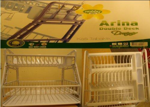Hobby Égouttoir pour vaisselle à 2 étages en plastique Blanc