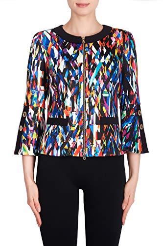 Joseph Ribkoff Blue Multicolor & Black Jacket Style - 191726 Spring Summer 2019