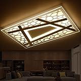 Ambiente minimalista moderno de la lámpara del salón rectangular fino estupendo LED lámpara dormitorio ideas agua cubo plafones