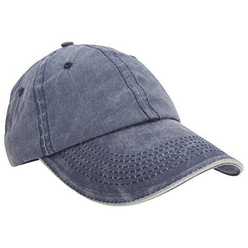 Result Washed Fine Line Cotton Baseball Cap With Sandwich Peak Test