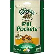 Greenies Pill Pockets FELINE Treats for Cats Chicken Flavor - 1.6 oz. 45 Treats