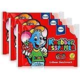 Küchle Knabber Esspapier rot Erdbeer Geschmack 25g Essoblaten (3er Pack)