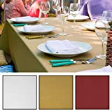 Slimline Tablewear Tischdecke Gartentischdecke Classic 140x240 cm abwaschbar Teflon beschichtet Wasserabweisend weiß rot senfgelb (weiß)