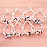 JianFeng 12Pcs Einhorn Armband Soft Band Armband Geburtstag Party Gefälligkeiten Kid Mädchen Geschenke - zufällige Farb