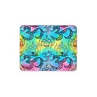 OM Lotus Flower Mouse Mat Pad Yoga Spiritual Girls Gift Computer PC Gift #8161