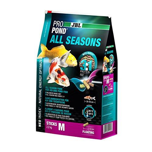 JBL 4125600 toutes saisons Doublure Koi, nourriture flottante Sticks, saison doublure, propondall Seasons, taille M, 2200 g