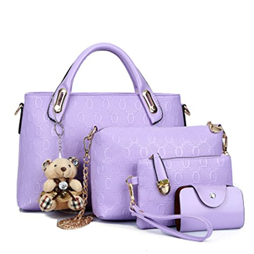 YYWPurse - Borsa in pelle Donna Light Purple