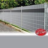 Sichtschutzfolie anthrazit 2er Set = 70m Sichtschutz Sichtschutzfolie Windschutz Doppelstabmatten Zaun Blickdicht