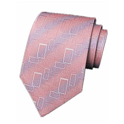 ZSRHH-Neckchiefs Halstücher Krawatte männlich formelle Kleidung Business Krawatte Bräutigam Hochzeit Ehe Krawatte Seidenstoffe rosa Muster Krawatte - Männliche Formel