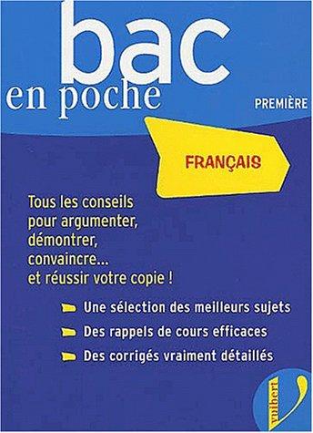 Bac en poche : Français 1ère toutes séries