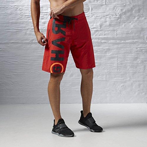 Reebok Herren Oberbekleidung Power Nasty Lightweight Shorts, rot, L