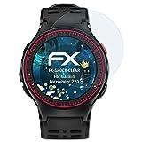 atFoliX Panzerfolie für Garmin Forerunner 225 Folie - 3 x FX-Shock-Clear stoßabsorbierende ultraklare Displayschutzfolie