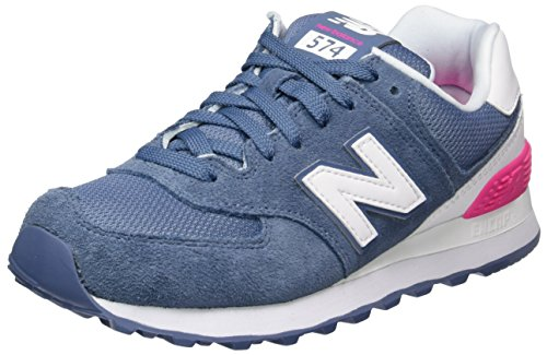 New Balance Damen 574 Suede Sneakers, Blau (Blue), 36.5 EU (Us Polo Herren Jeans)