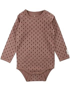 Small Rags Mädchen Langarm Baby- und Kinder Body, 95% Baumwolle, Braun Meliert, Dolly LS Body Nutmeg Melange 60300