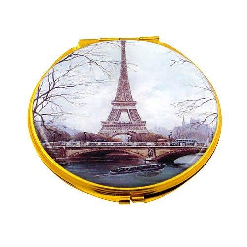 Souvenirs de France - Miroir Rond Tour Eiffel 'Pont d'Iéna'