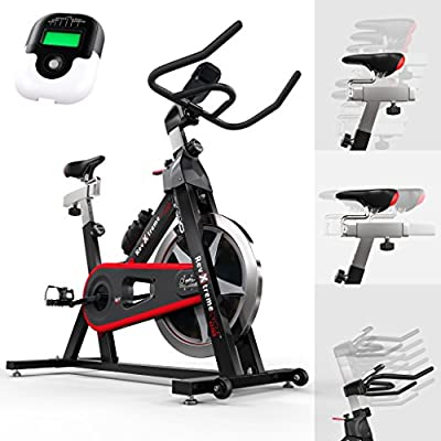 We R Sports Aerobic Training Cycle Exercise Bike Fitness Cardio Workout Home Cycling Racing Machine - Black from We R Sports®