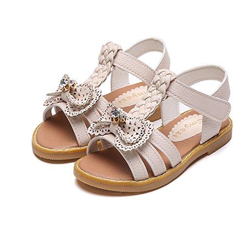 ZGSX 2017 scarpe primavera e l'estate di arco di colore solido sandali sandali Velcro ragazze Bianca
