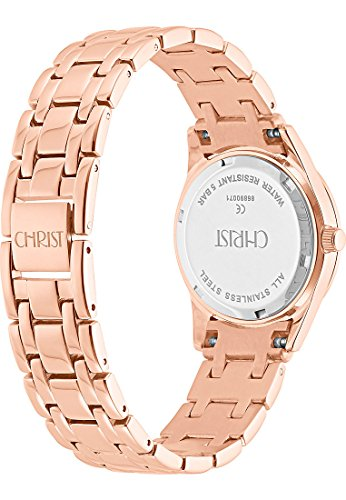 CHRIST times Damen-Armbanduhr Analog Quarz One Size, perlmutt, rosé - 3